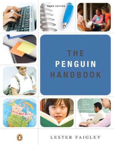 9780205559947: Penguin Handbook (Paperbound), The (3rd Edition) (Faigley Series)