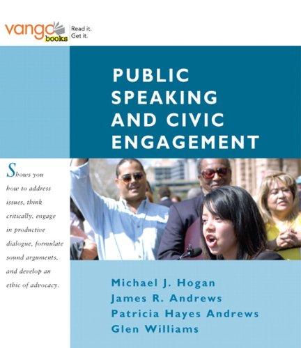 Public Speaking and Civic Engagement: J. Michael Hogan;