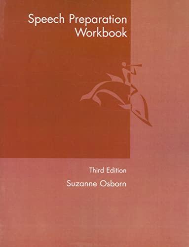 9780205564118: Speech Preparation Workbook