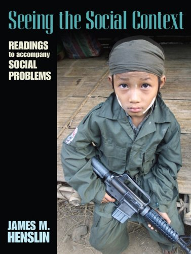 9780205568758: Seeing the Social Context: Readings to Accompany Social Problems