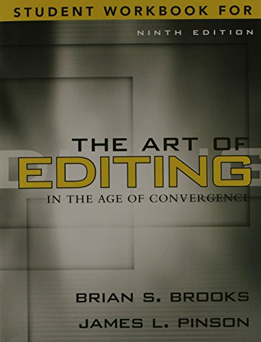 9780205569663: The Art of Editing in the Age of Convergence: Workbook, 9e