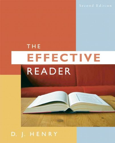 9780205573196: Effective Reader, The (2nd Edition)