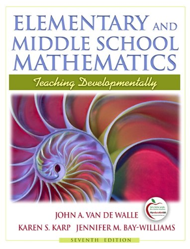 9780205573523: Elementary and Middle School Mathematics: Teaching Developmentally (7th Edition)