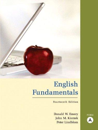 9780205574636: English Fundamentals, Form A (with MyWritingLab) (14th Edition)