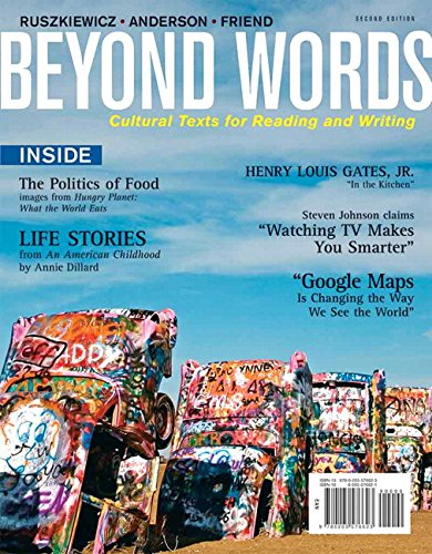 9780205576623: Beyond Words: Cultural Texts For Reading and Writing (2nd Edition)