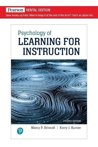 9780205578436: Psychology of Learning For Instruction (3rd Edition)