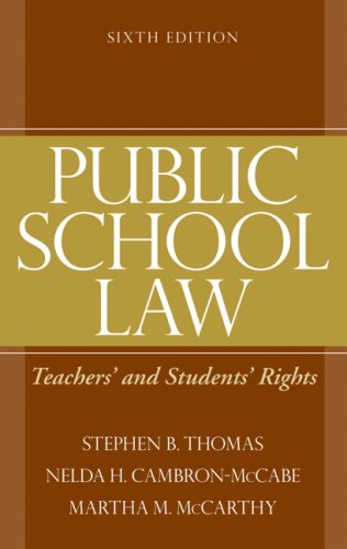 9780205579372: Public School Law: Teachers' and Students' Rights (6th Edition)