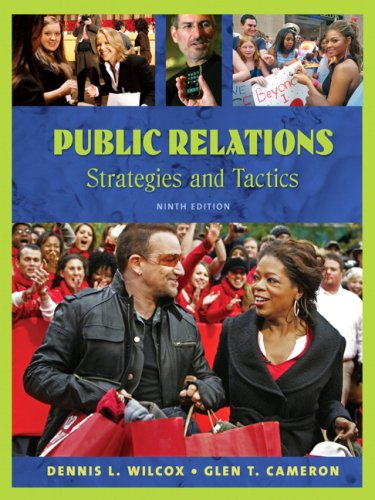 9780205581481: Public Relations: Strategies and Tactics (9th Edition)