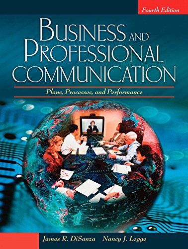 9780205581856: Business and Professional Communication: Plans, Processes, and Performance (4th Edition)