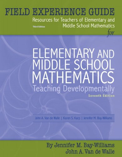 9780205583164: Field Experience Guide for Elementary and Middle School Mathematics: Teaching Developmentally