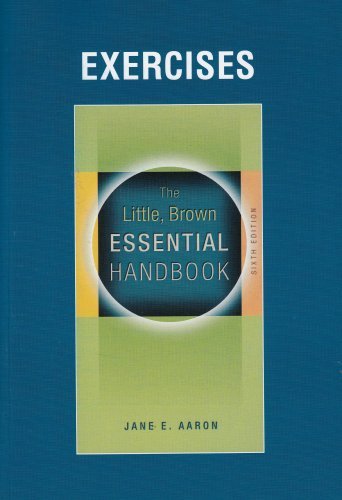 9780205591510: Exercise Book for Little, Brown Essential Handbook