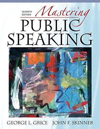 9780205593361: Mastering Public Speaking (7th Edition)