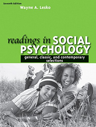 9780205595778: Readings in Social Psychology: General, Classic, and Contemporary Selections (7th Edition)