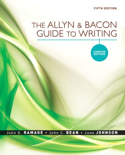 Allyn and Bacon Guide to Writing, The,: John D. Ramage,