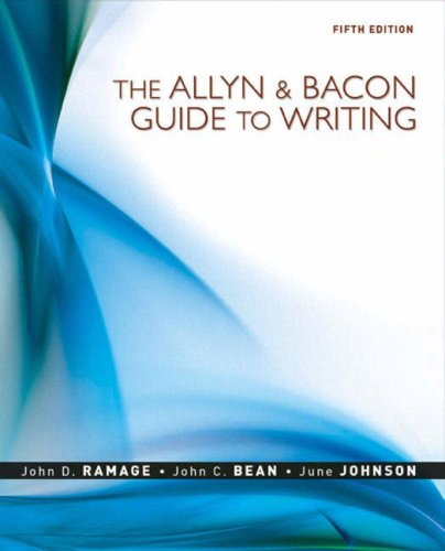 9780205598748: Allyn & Bacon Guide to Writing, The (5th Edition)
