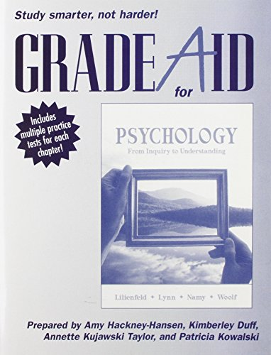 9780205607549: Grade Aid Student Workbook with Practice Tests for Psychology: From Inquiry to Understanding