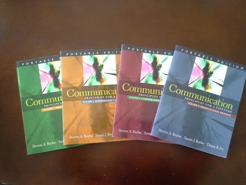 9780205607563: Communication Principles for a Lifetime (portable edition, vol 1-4)