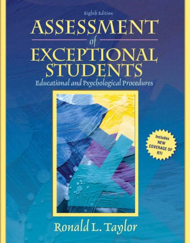 9780205608393: Assessment of Exceptional Students: Educational and Psychological Procedures (8th Edition)