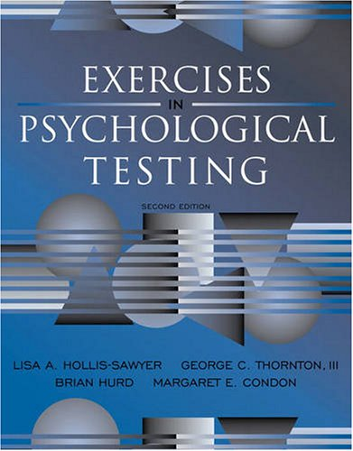 9780205609895: Exercises in Psychological Testing (2nd Edition)