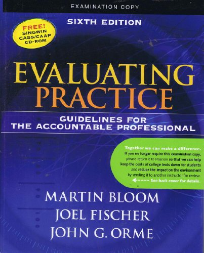 9780205612116: Evaluating Practice: Guidelines for The Accountable Professional (Examination Copy)