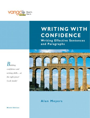 9780205617807: Writing with Confidence: Writing Effective Sentences and Paragraphs, VangoBooks (9th Edition)