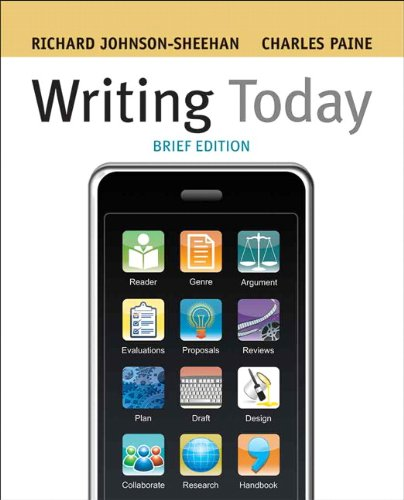 9780205619566: Writing Today, Brief Edition