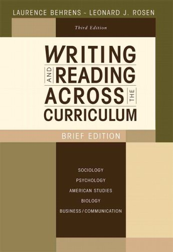 9780205622290: Writing and Reading Across the Curriculum, Brief Edition (3rd Edition)