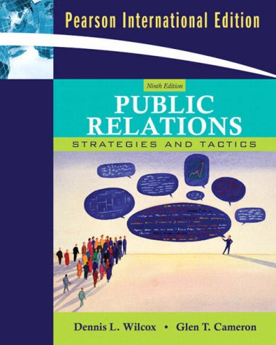 9780205623235: Public Relations: Strategies and Tactics (9th International Edition)