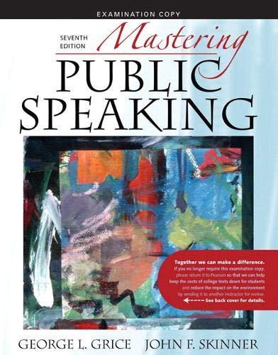 9780205625215: Mastering Public Speaking