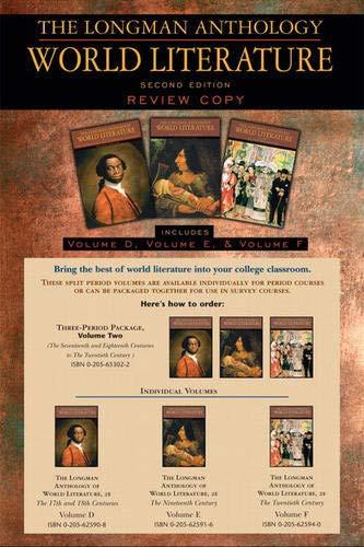 The Longman Anthology of World Literature, Volume: David Damrosch, David