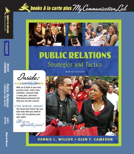 9780205626137: Public Relations: Strategies and Tactics, Books a la Carte Plus MyCommunicationLab (9th Edition)