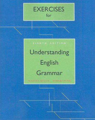 9780205626885: Exercise Book for Understanding English Grammar