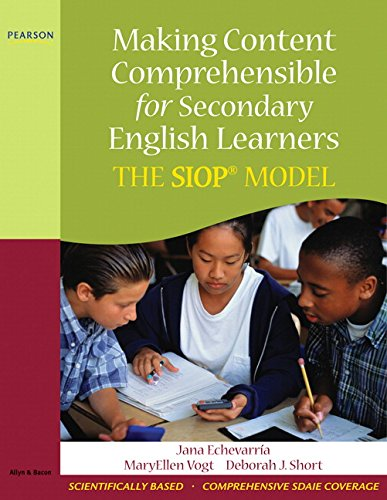 9780205627578: Making Content Comprehensible for Secondary English Learners: The SIOP Model