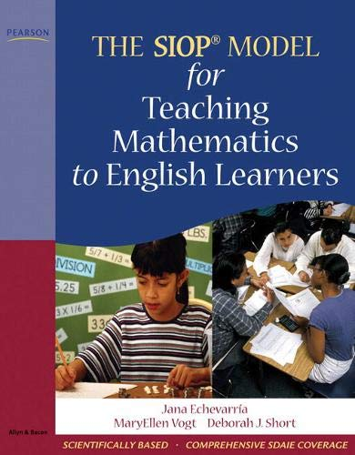9780205627585: The SIOP Model for Teaching Mathematics to English Learners