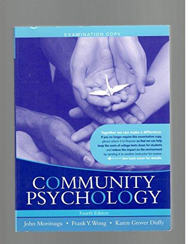 9780205627684: Community Psychology (Examination Copy)