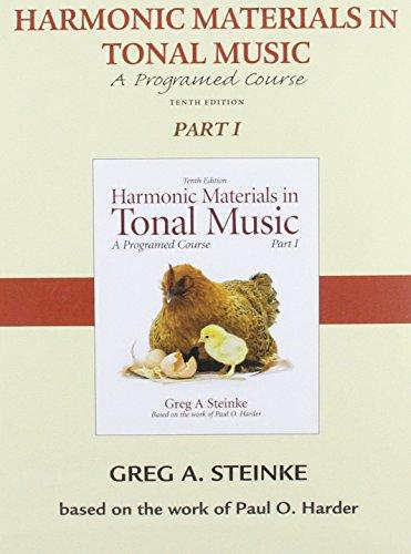Audio CD for Harmonic Materials in Tonal Music: Pt. 1: Greg A. Steinke