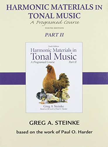 9780205629763: CD for Harmonic Materials in Tonal Music, Part 2 (Pt. 2)