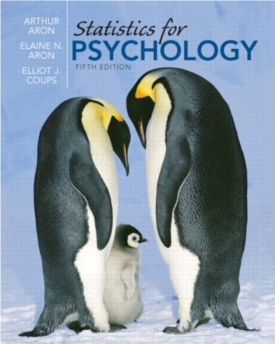 9780205630073: Statistics for Psychology Value Package (includes Study Guide and Computer Workbook for Statistics for Psychology) (5th Edition)