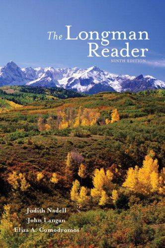 The Longman Reader (9th Edition): Nadell, Judith; Langan,
