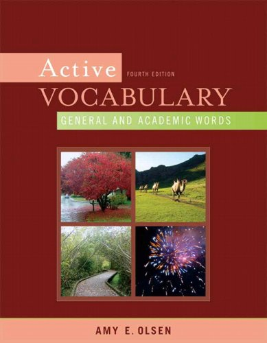 9780205632732: Active Vocabulary: General and Academic Words (4th Edition)