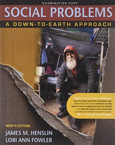 James Henslin Social Problems Down To Earth Approach Abebooks