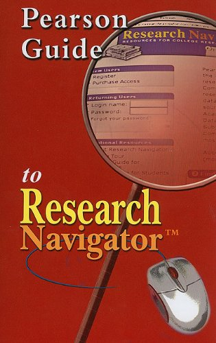 9780205633401: Pearson Guide to Research Navigator