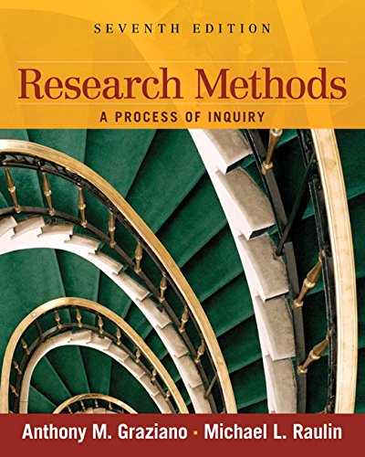 9780205634026: Research Methods: A Process of Inquiry (7th Edition)