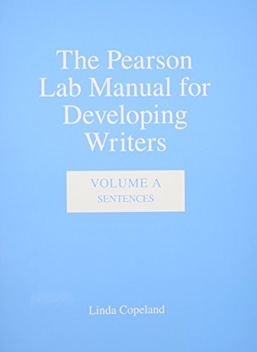 9780205634095: The Pearson Lab Manual for Developing Writers: Volume A: Sentences