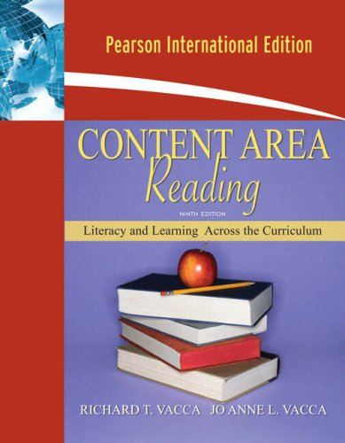 9780205636587: Content Area Reading: Literacy and Learning Across the Curriculum: International Edition