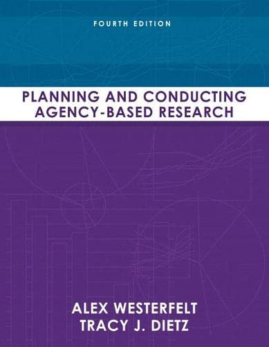 9780205636853: Planning and Conducting Agency-Based Research (4th Edition)