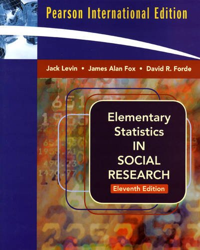 9780205636921: Elementary Statistics in Social Research: International Edition