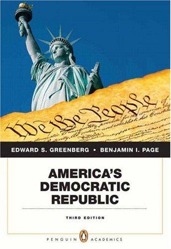 9780205646814: America's Democratic Republic (3rd Edition)