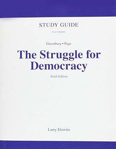 9780205648566: Study Guide for The Struggle for Democracy