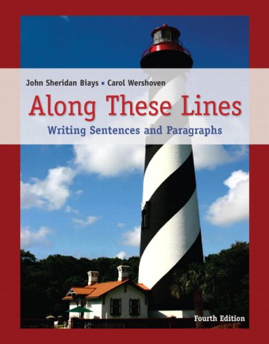 along these lines writing paragraphs & essays Along these lines: writing paragraphs and essays (6th edition) by john sheridan biays, carol wershoven and a great selection of similar used, new and collectible books available now at abebookscom.